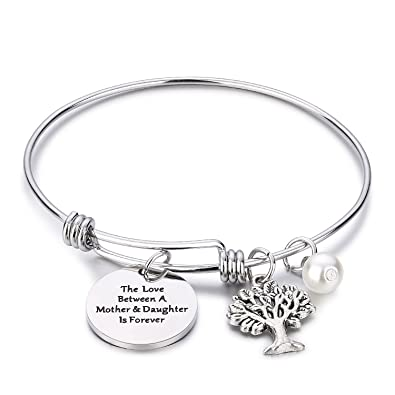 6a5fbe6eaa50 CJ M Family Tree Bracelet The Love Between Mother and Daughter is Forever  Tree of Life Bracelet Mother Gift Bangle