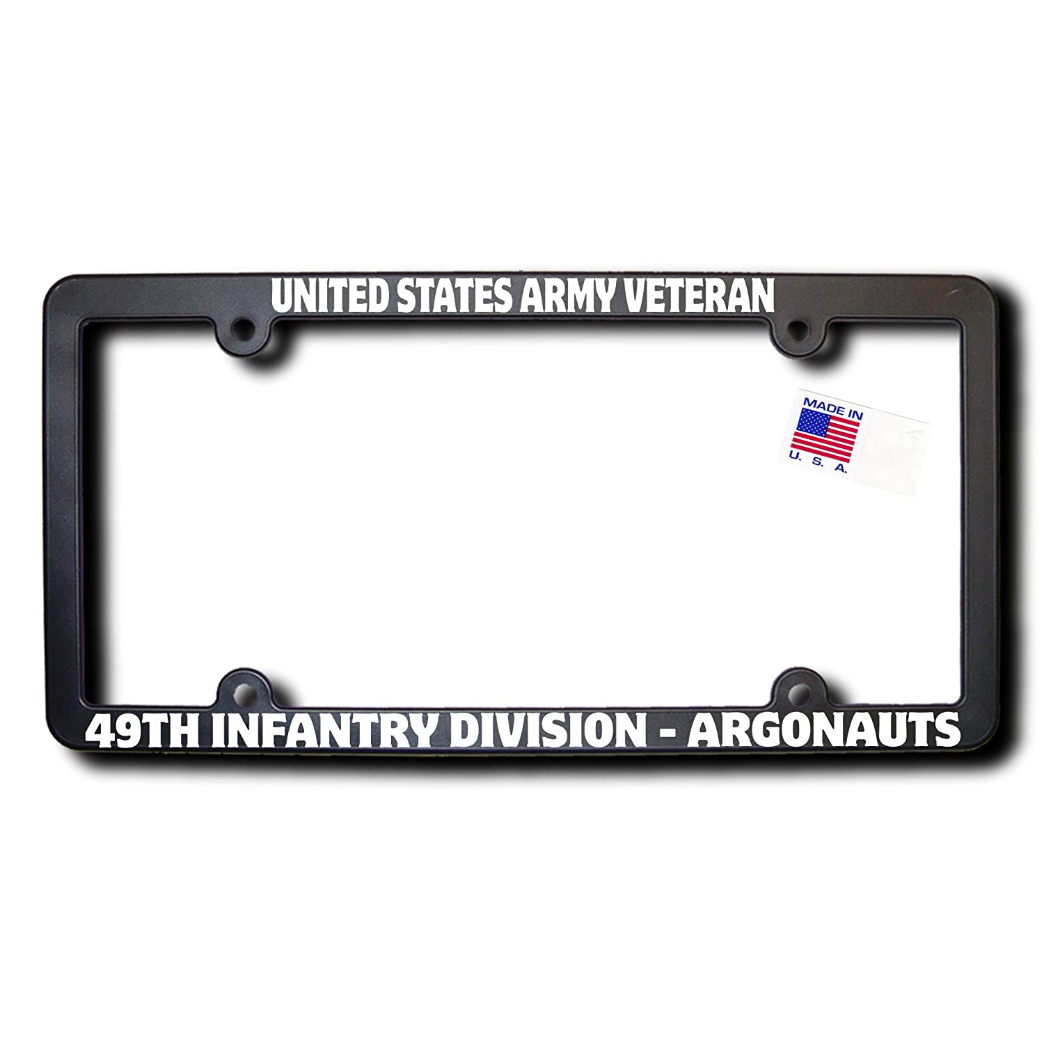 49TH INFANTRY DIVISION - ARGONAUTS License Frame w/REFLECTIVE TEXT