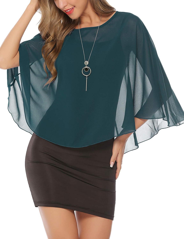 Abollria Ponchos y Capas Primavera y Verano Chal Elegante para Mujer Mantón Ligero