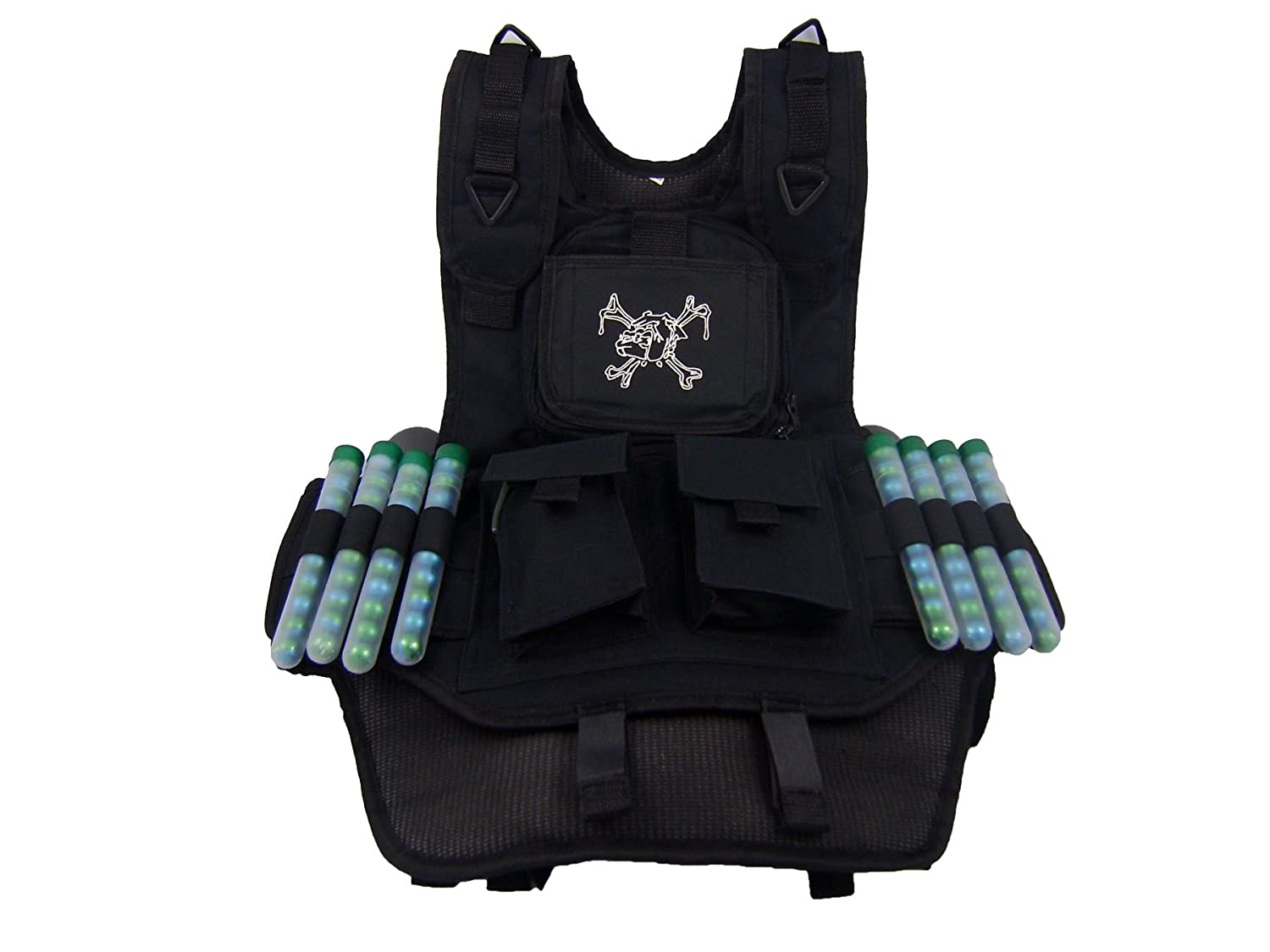 Maddog® Sports Tactical Paintball Harness Vest MD-2240-TACBLK