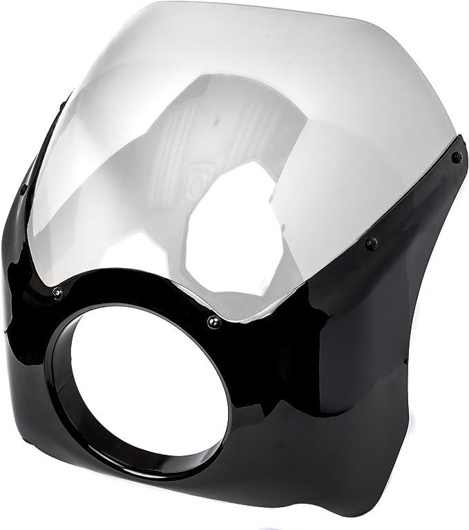 Krator Motorcycle Custom Black Headlight Head Light For Honda Shadow Sabre VT VF 700 750 1100