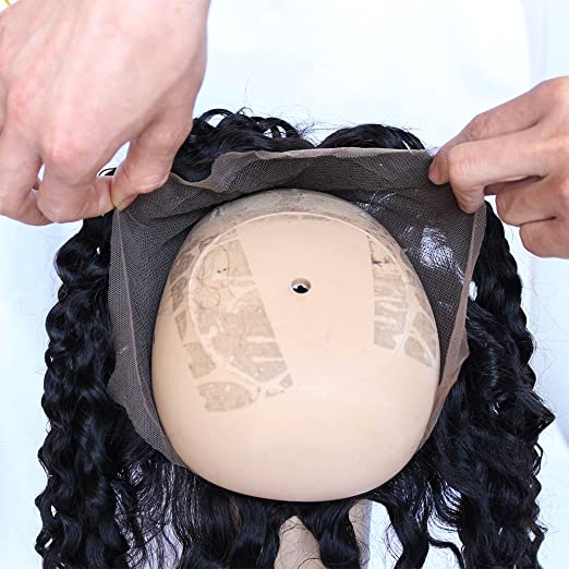 Amazon.com : Toprincess 360 Lace Band Frontal Back Deep Wave Lace Frontal Closure With Natural Hairline Baby Hair-DW10Inch : Beauty