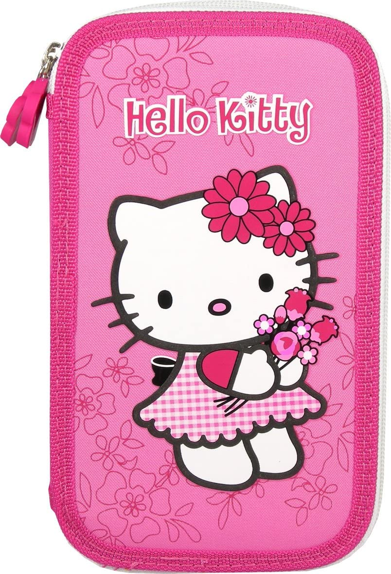 SANRIO - Plumier doble Hello Kitty - 5901130015511: Amazon.es: Juguetes y juegos