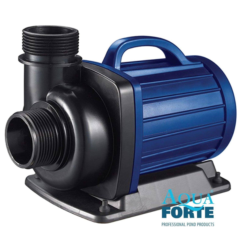 Teichpumpe Aquaforte DM 10000 energiesparende, leistungsstarke Filterpumpe mit Keramikachse, meerwassergeeignet, mit Trockenlaufschutz, ideal für den Koiteich, Gartenteich, Bachläufe und Fontänen