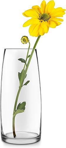 Libbey Poppy Glass Vase, 12-inch, Set of 2