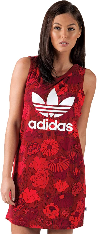 adidas Damen Trefoil Tank Kleid