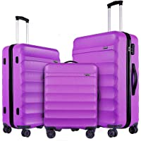 3-Piece GinzaTravel ABS Material Lightweight Spinner Luggage Sets