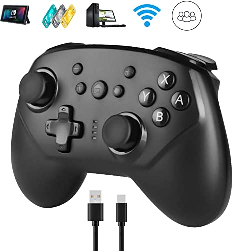 Powcan Mando Inalámbrico para Nintendo Switch, Wireless Pro Switch Controller Controlador Bluetooth Gamepad: Amazon.es: Videojuegos