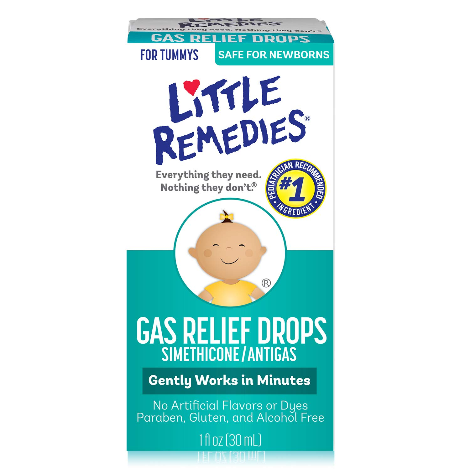 Little Remedies Gas Relief Drops   Natural Berry Flavor   1 oz.   Pack of 1   Gently Works in Minutes   Safe for Newborns