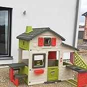 Smoby 3032168102002 Friends House Spielhaus mit Küche Zubehör Garten ...
