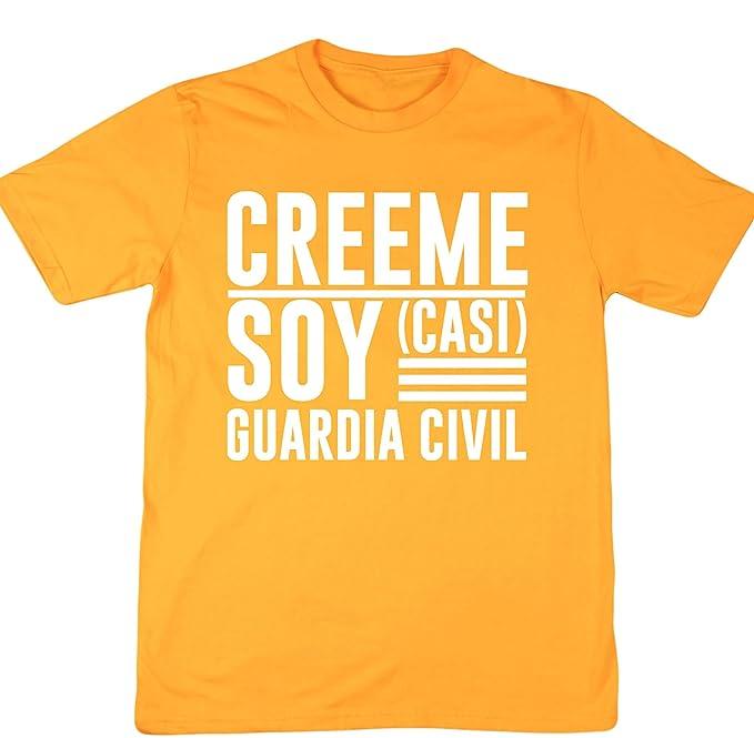HippoWarehouse Créeme Soy (Casi) Guardia Civil Camiseta Manga Corta Unisex