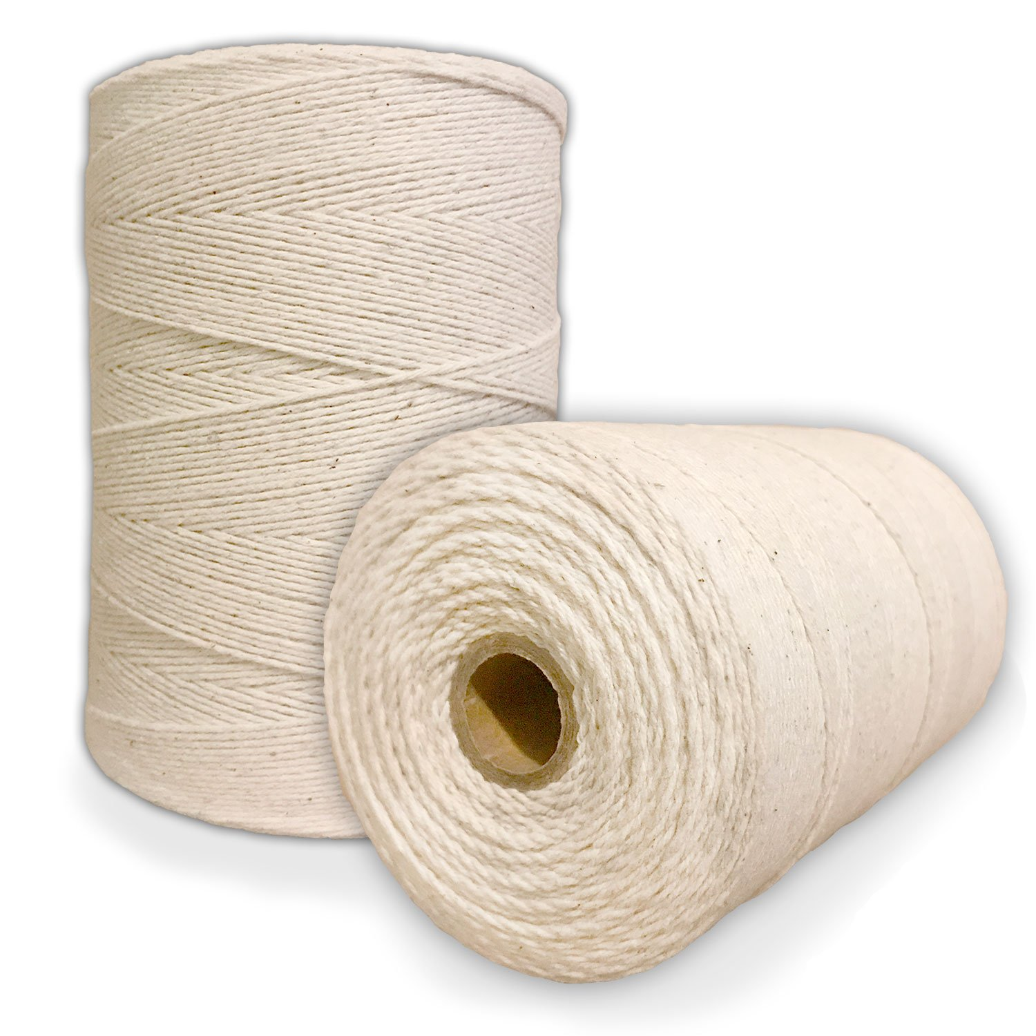 Durable Loom Warp Thread (Natural/Off White), 8/4 Warp Yarn (800 Yards), Perfect for Weaving: Carpet, Tapestry, Rug, Blanket or Pattern - Warping Thread for Any Loom