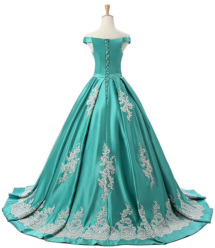 Sunvary Women\'s Evening Prom Gowns Off-The-Shoulder Applique ...