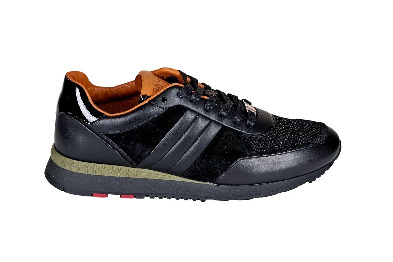 Bally メンズ 6212793 ブラック 革 運動靴 B07DTJJSP8