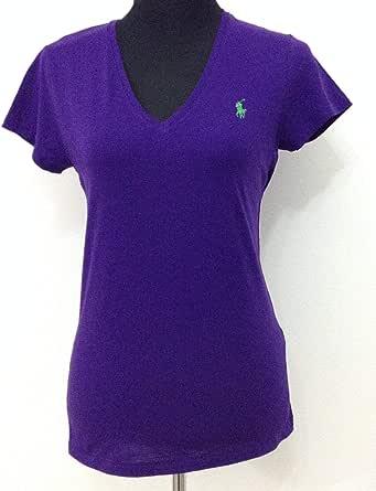 Polo Ralph Lauren Purple V Neck T-Shirt For Women