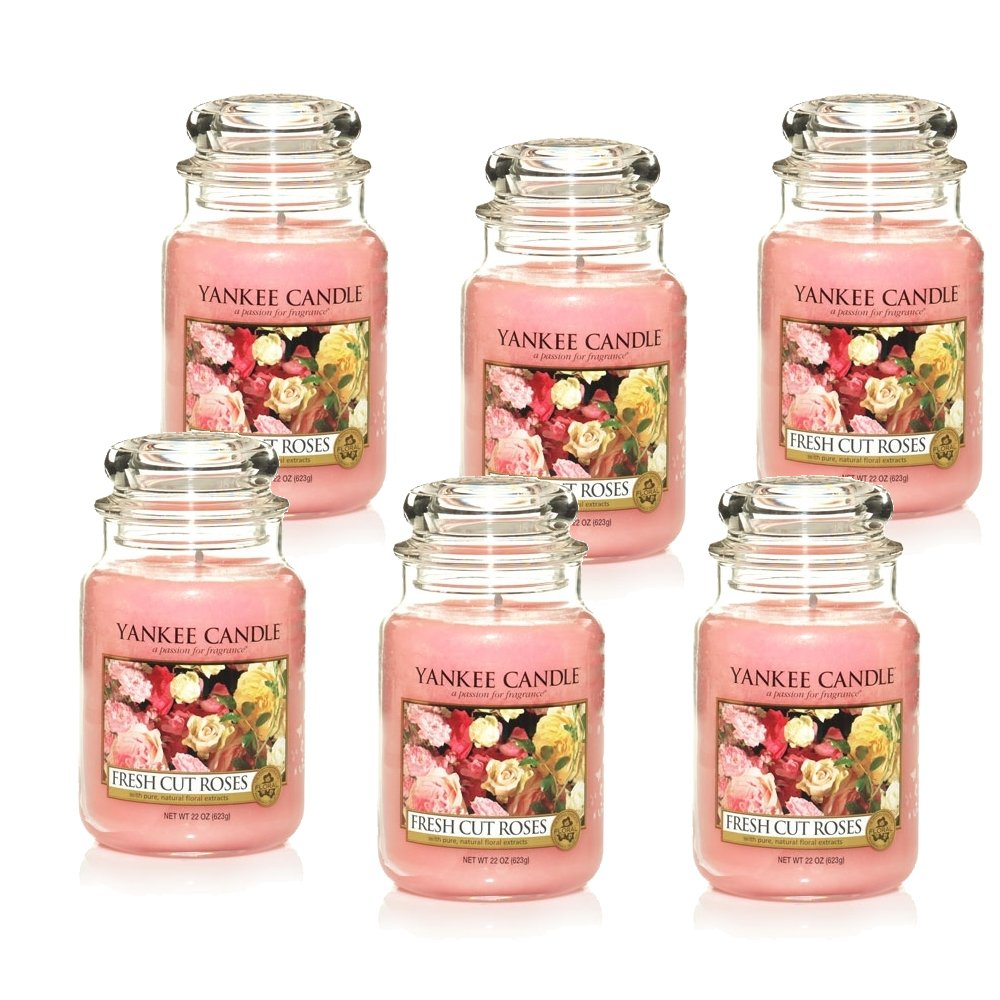 Yankee Candle Fresh Cut Roses Large 2 Wick Tumbler Candle, Floral Scent 1125729Z