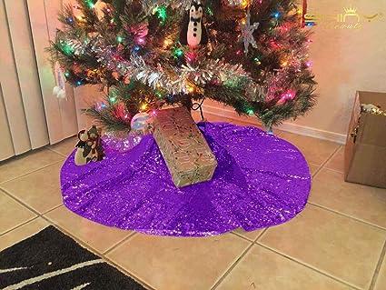 Amazon Com Shinybeauty Christmas Tree Skirt Tree Skirt Purple