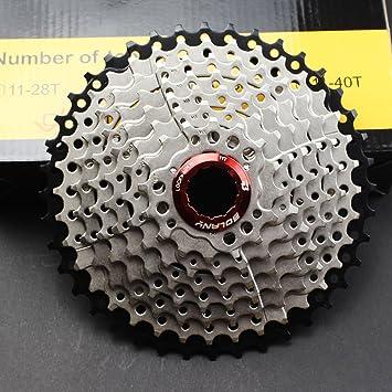 FOMTOR 9 Velocidad Cassette 11 – 40 MTB Cassette 9 Velocidad para Shimano Hub Bicicleta de