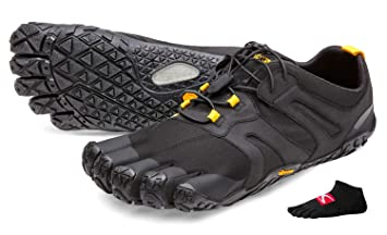 b13ba97b1a Vibram FiveFingers V-Trail 2.0 Men + Zehensocke, Color:Black/Yellow,