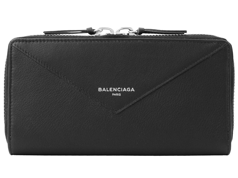 (バレンシアガ) BALENCIAGA 財布 長財布 ラウンドファスナー Paper Continental レザー 381226 [並行輸入品] B07BBFVNQWNoir