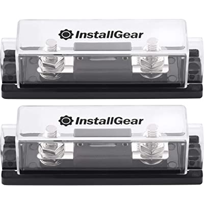 InstallGear 0/2/4 Gauge Ga ANL Fuse Holder + 300 Amp ANL Fuses (2 Pack): Car Electronics