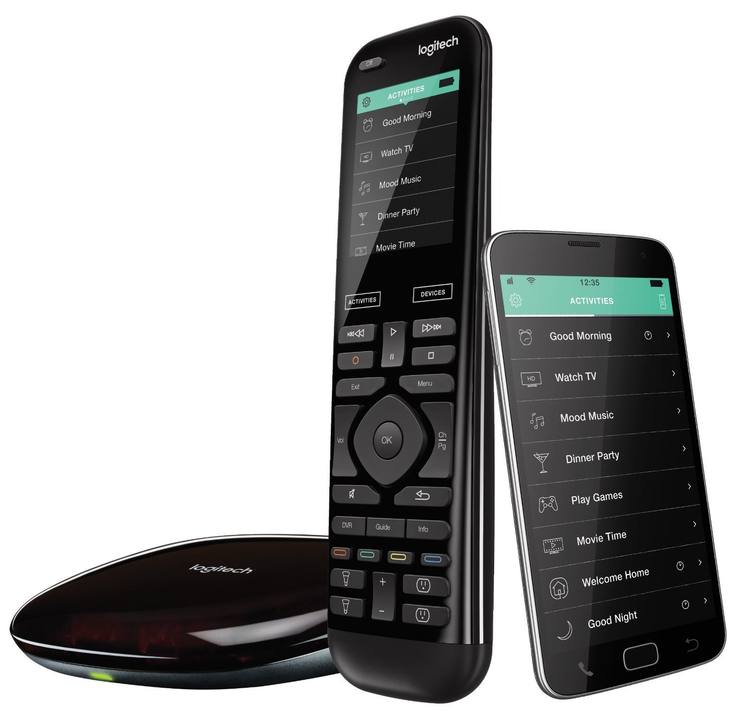Logitech Harmony Elite Remote Control, Hub and App, Compatible with Alexa (Renewed)