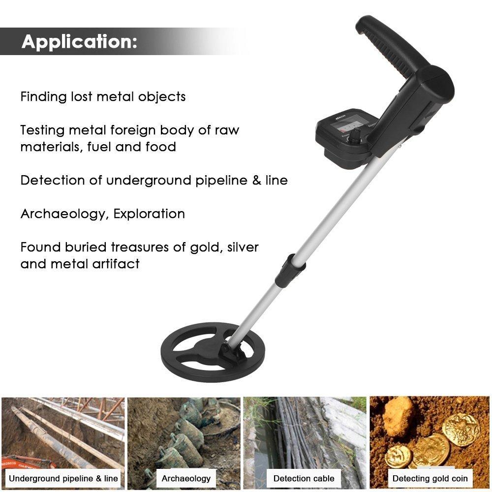 kkmoon Handheld Niños Detector de metales metal Such dispositivo con agua Densidad Bobina de búsqueda ajustable sensibilidad, plástico ABS + Aluminio oro ...