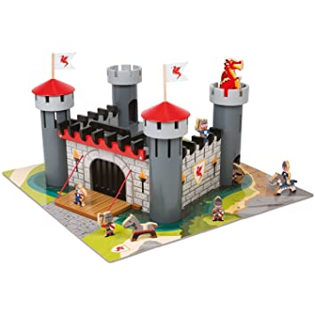 Alex Brands 55 Piece Set Durable And Heavy Weight Wooden Dragon Castle 4 Years