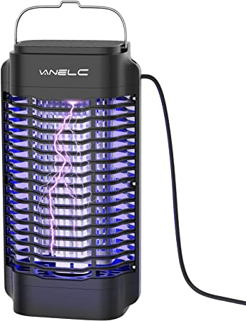 VANELC Bug Zapper, Electric Mosquito Killer Lamp, Light-Emitting Flying Insect Trap, Insect Fly Pest Attractant Trap, Effective 4200V Powered Electric Mosquito Zappers for Patio, Outdoor, Indoor