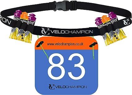 Unisex Race Running Triathlon Belt With Gel Holders Run Race Number Race Belt C