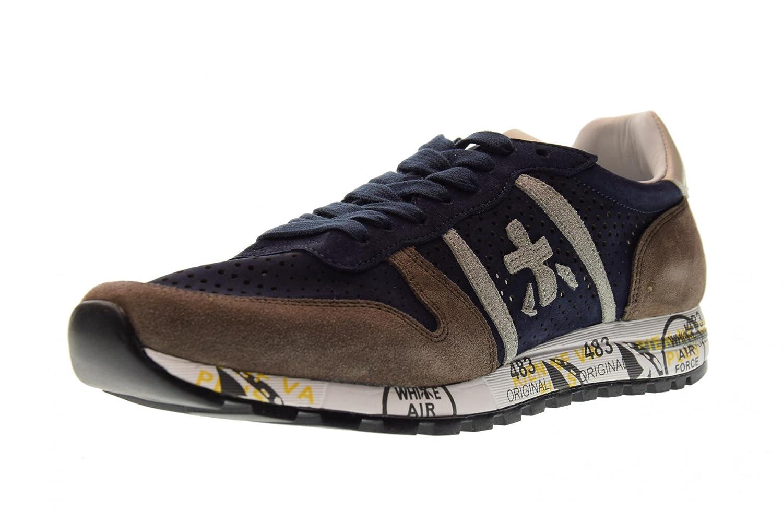 PREMIATA Zapatos Hombre Zapatillas Bajas Eric 3138 45 EU|Azul / Marrón