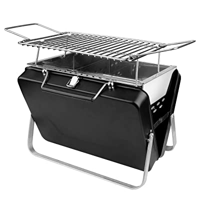 wang JESS Barbecue Charcoal Grill,Stainless Steel Portable Charcoal Barbecue,Folding Lightweight Barbecue Grill Tools for Outdoor Grilling Cooking Camping Hiking Picnics: Garden & Outdoor