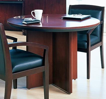 Amazoncom Mayline Corsica Round Conference Table With X - Mayline corsica conference table