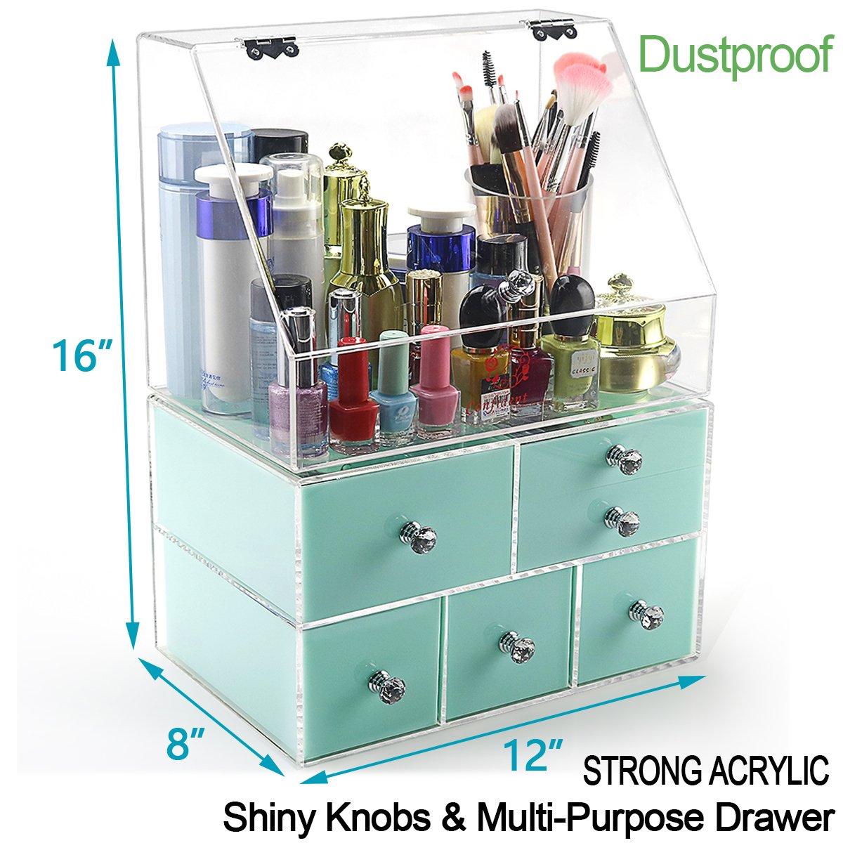 Amazon.com: Acrylic Modern Bathroom Countertop Vanity Organizer ...