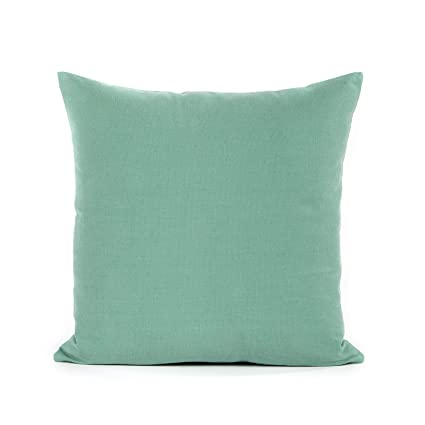 Amazon 40 X 40 Seafoam Green Throw Pillow Cover Home Kitchen Fascinating Seafoam Green Decorative Pillows