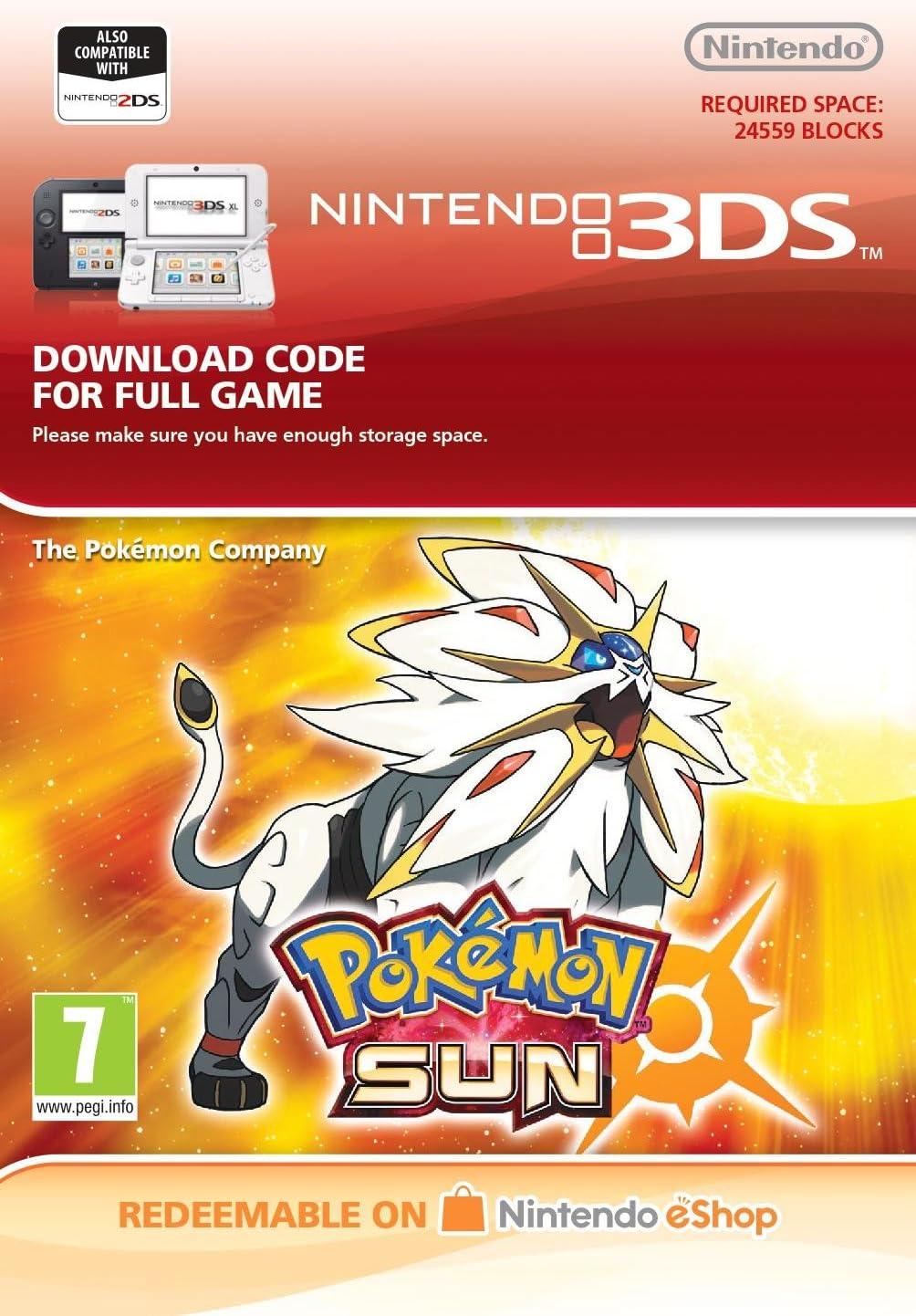 Pokemon Sun 3ds Download Code Amazon Co Uk Pc Video Games
