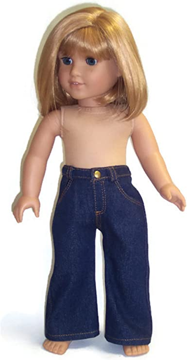 """Sparkly Dark Blue Tank Top fits American Girl Doll  18/"""" Doll Clothes"""
