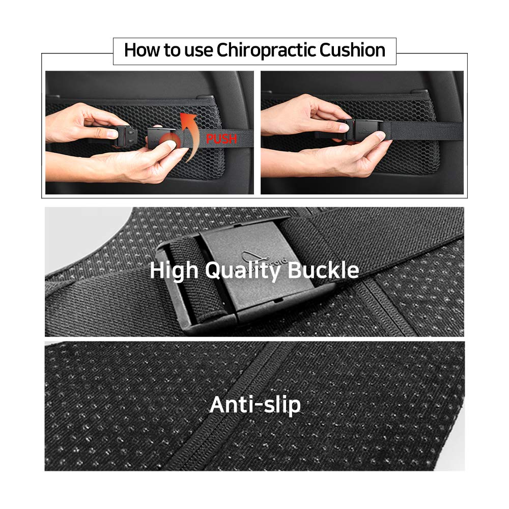 Balancecord Chiropractic Memory Foam Back Cushion with Orthopedic Design Great for Office Computer Chair Lumbar Support Pillow for Back Pain by Balancecord (Image #7)