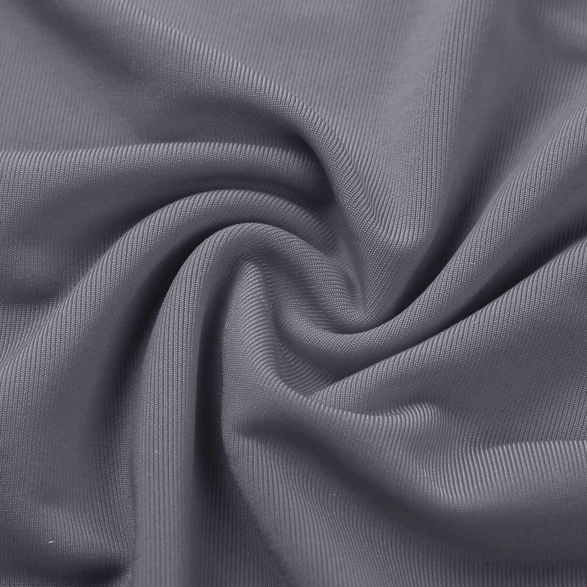dPois Women Ultra Thin Lingerie Halter Neck Backless High Slit Legs Cheongsam Nightgown Dress