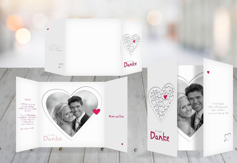 Kartenparadies Danksagung für Hochzeitsgeschenke Hochzeit Dankeskarte Herzform, hochwertige hochwertige hochwertige Danksagungskarte Hochzeitsglückwünsche inklusive Umschläge   20 Karten - (Format  145x145 mm) Farbe  RosaLeuchtend B01MUD28QZ | Beliebte Empfeh 6338a9