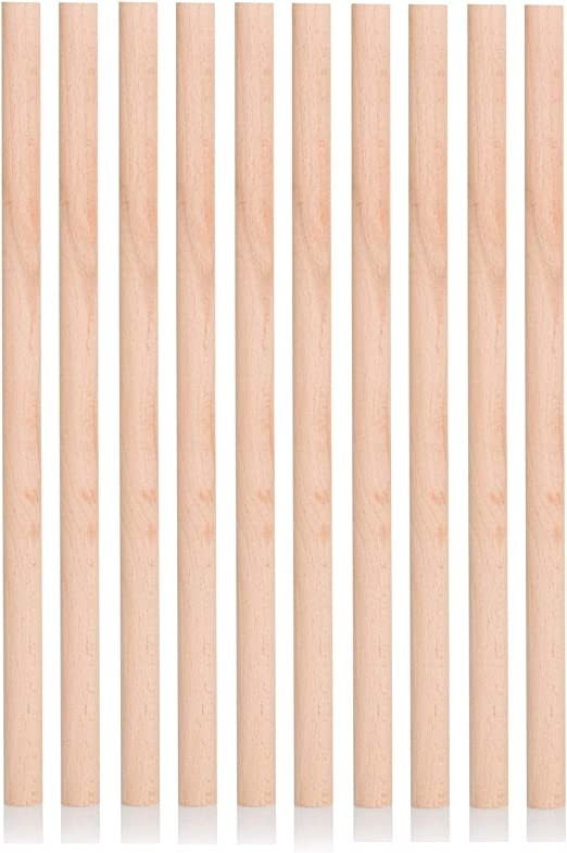 Craft Sticks 60cm 600mm Hardwood Wooden Dowels Pick How Thick 10 pack
