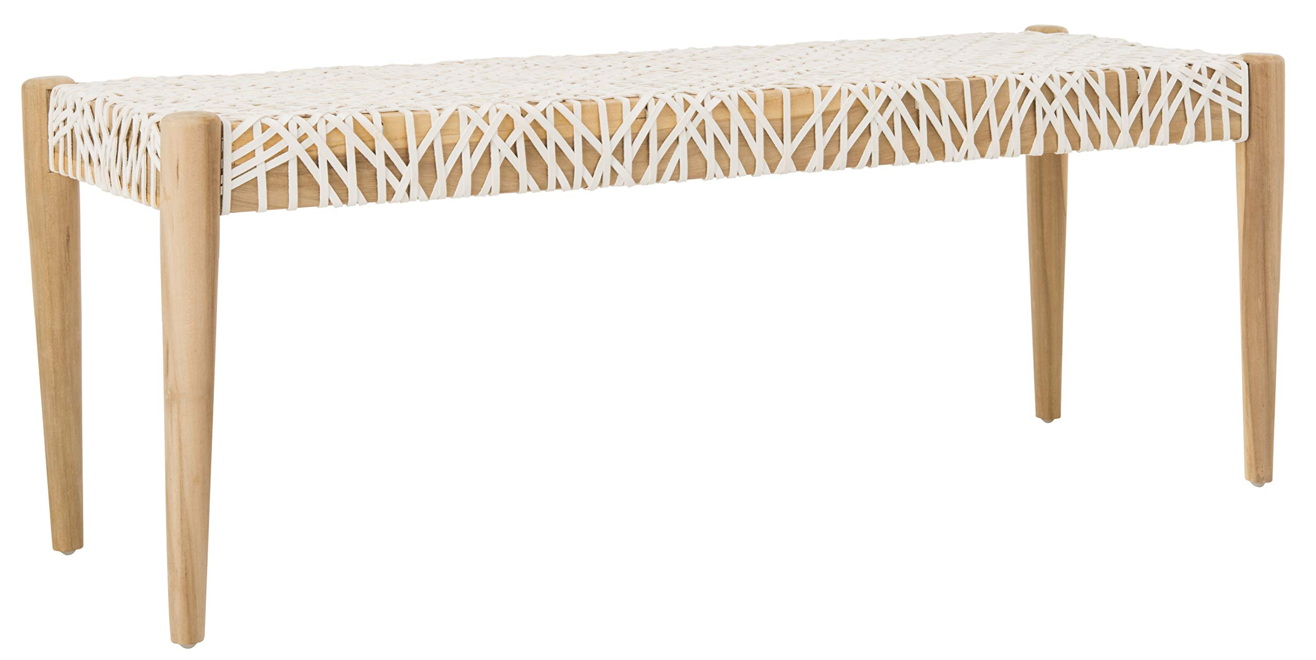 Safavieh BCH1000A Home Collection Bandelier Bench, Off- Off-White/Natural by Safavieh (Image #6)
