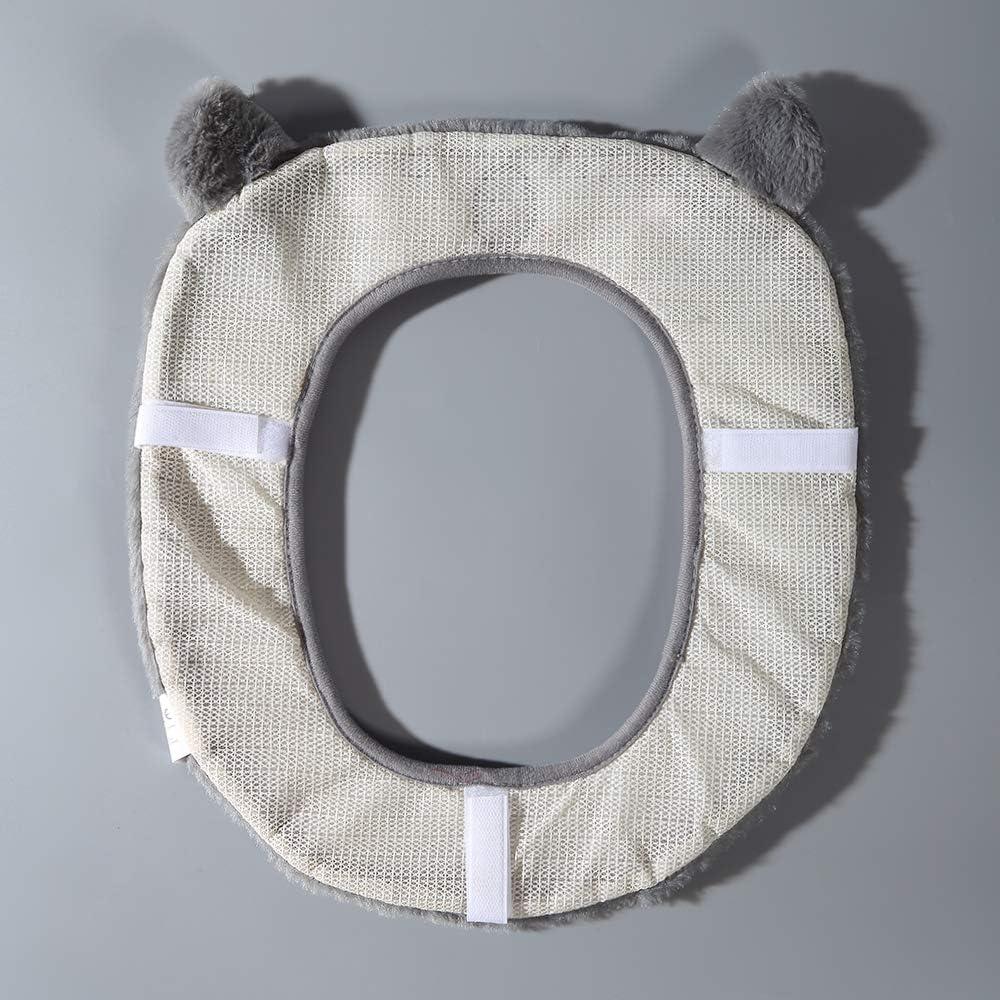 Gifts Treat Housse de si/ège de toilette Accessoires de toilette de style animal mignon doux tapis de bain en peluche koala