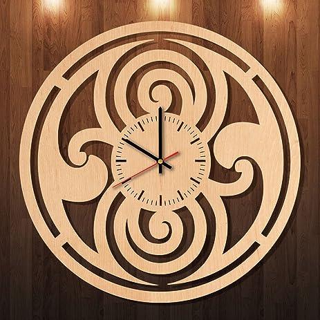 Amazon.com: Doctor Who Logo Eco Friendly Wood Wall Clock - Get ...