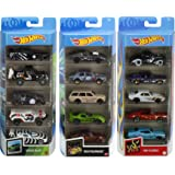 Hot Wheels Fast Pack 5-Pack Bundle with 15 Cars, 3 5-Packs of 1:64 Scale Racing Vehicles Themed Speed Blur, Nightburnerz…