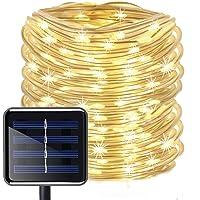 Zonne Touw Verlichting Buiten, KINGCOO 12 M/40ft 100LED LED Touw Verlichting Waterdicht Koperen Draad String Licht voor…