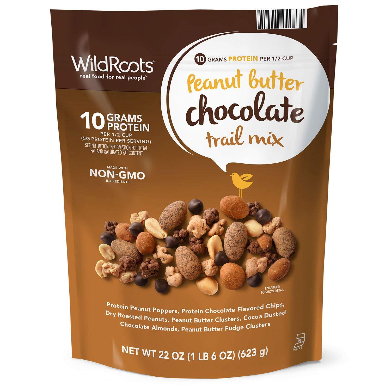 Wild Roots Peanut Butter Chocolate Trail Mix Net Wt 22 Oz