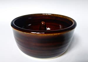Pottery Apple Baker ~ Handmade Stoneware Ceramic Bowl ~ in Glossy Brown