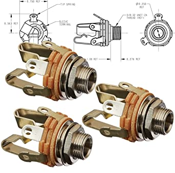 [EQHS_1162]  Amazon.com: Switchcraft Type 12B (Pack of 3) Stereo 3-Conductor Input Jack,  1/4
