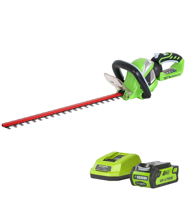 Greenworks Tools 22637tva Heckenschere kabellos 61cm mit Akku 2Ah/40V Ladegerät